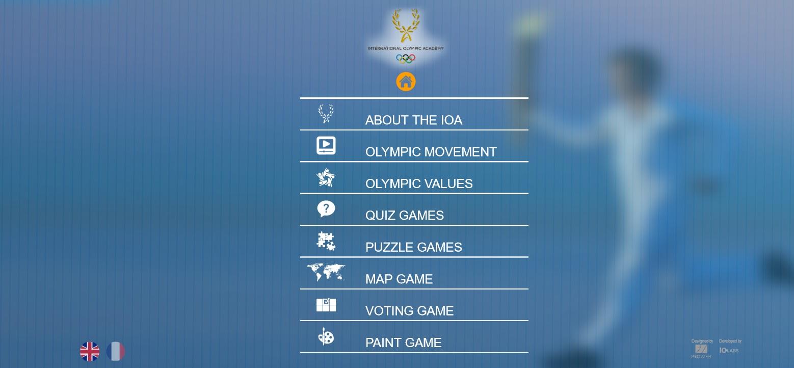 Διεθνής Ολυμπιακή Ακαδημία : Interactive Games από την iOlabs