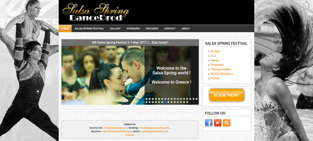 Website development for the Salsa Spring Festival