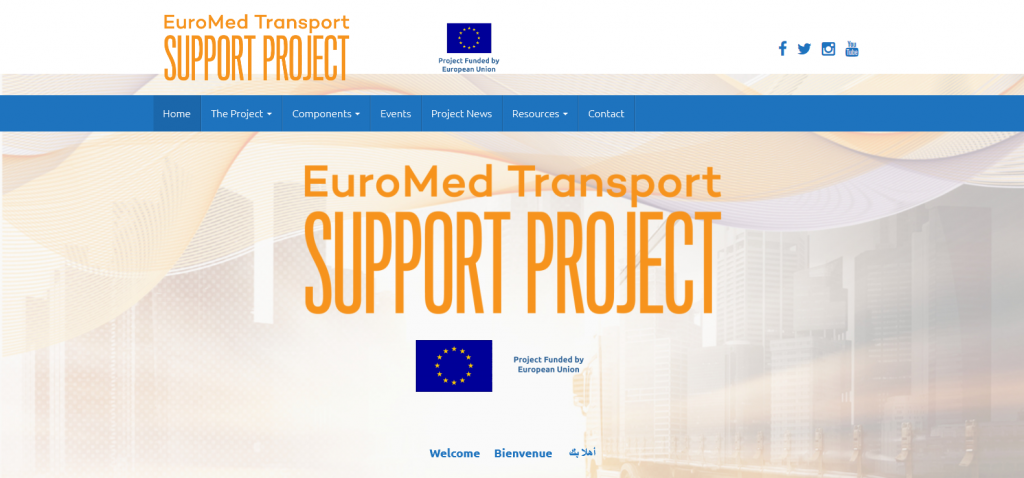 Visual Identiity & website development for the European Commission project Euromed Transpport Support Project  - etsp.eu
