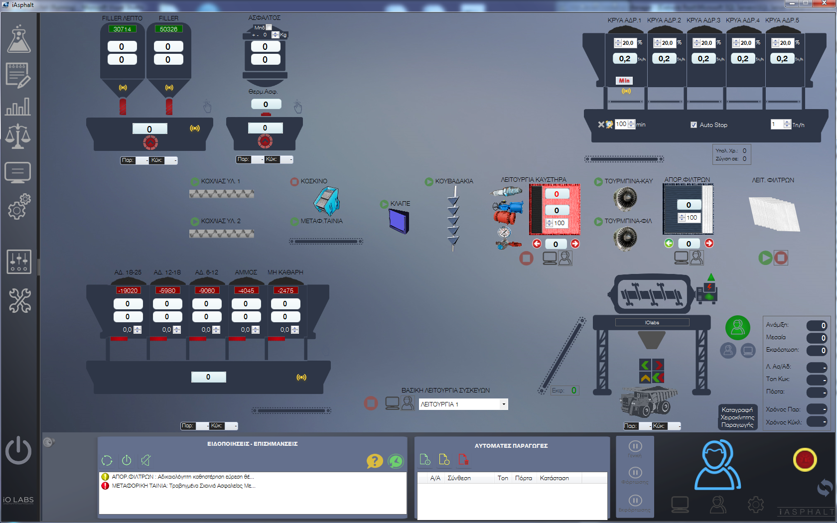 Asphalt production Automation System - iAsphalt
