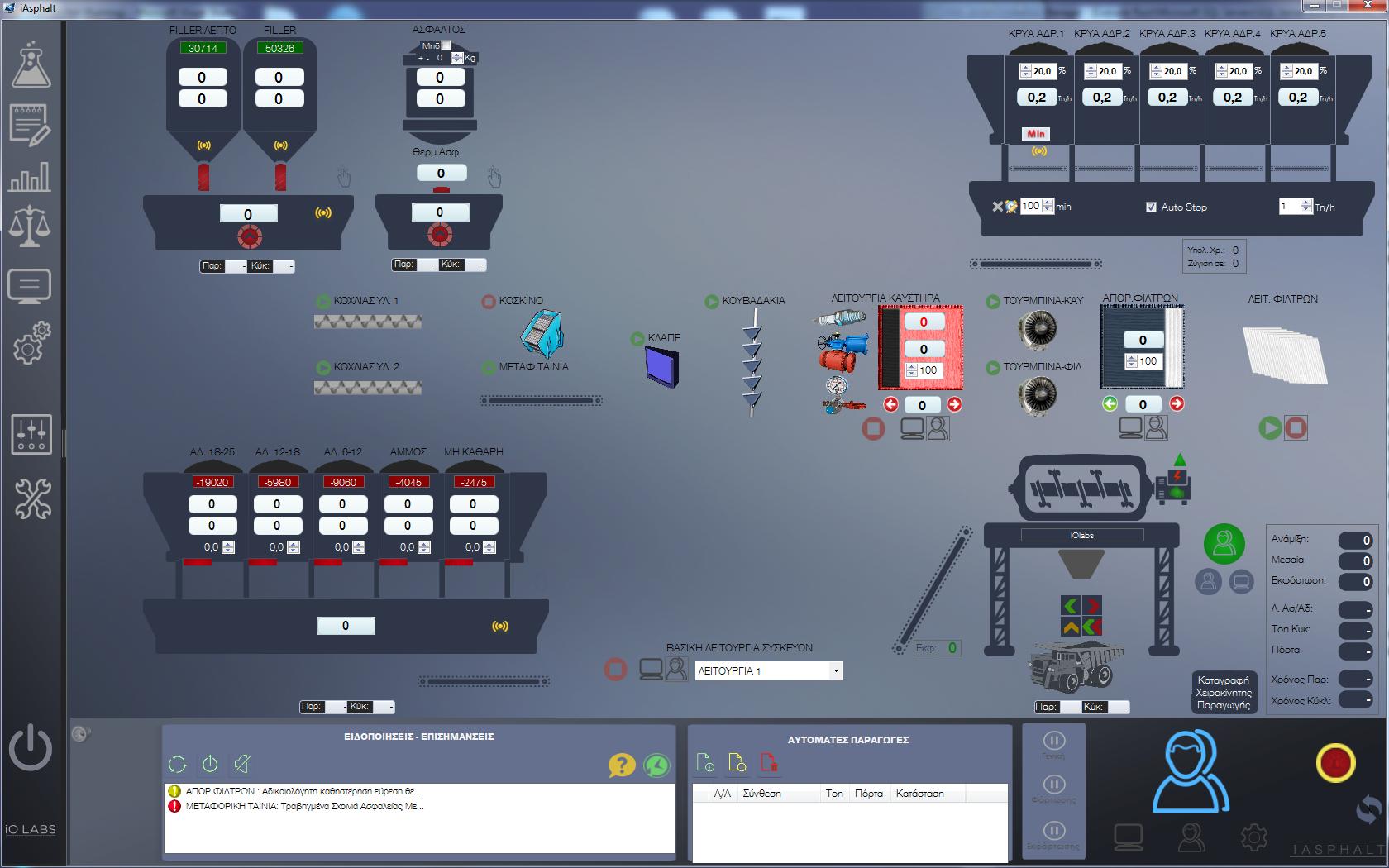 Βιομηχανικός αυτοματισμός παραγωγής Ασφάλτου – iAsphalt